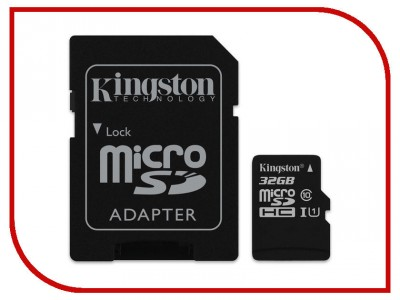 Карта памяти Kingston SDCS/32GB (SDCS/32GBSP)